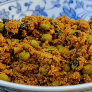 lamb mince and peas curry